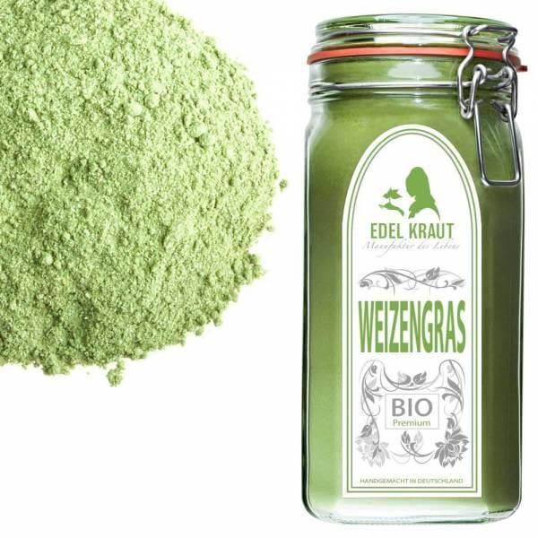 BIO Weizengras im Premium Glas | EDEL KRAUT
