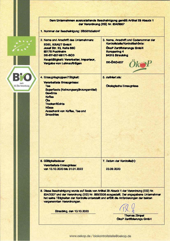 BIO-Zertifikat-2020-2022-EDEL-KRAUT-GmbH